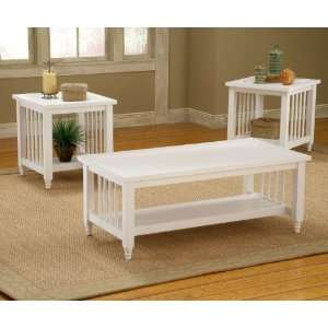Black Smith Country White 3 Pack Occasional Table Set