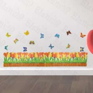 Butterfly & Flowering Shrubs   Wall Decals Stickers Appliques Home