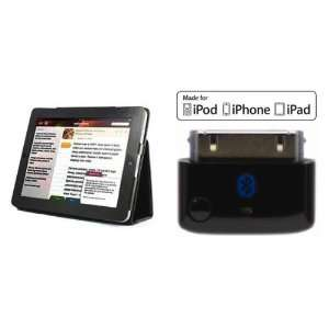 Bluetooth transmitter with genuine leather iPad case. (iPad not