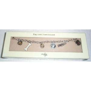 Dog Lovers Charm Bracelet   8   Gift Box Included   Little Gifts