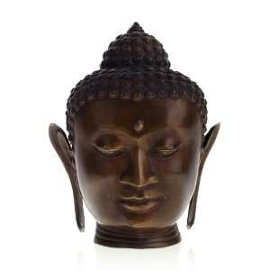 Serenity Buddha Head~Bronze Statue~Religious Sculpture