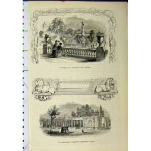 : Zoological Gardens Bridge Carnivora Cages Old Print: Home & Kitchen