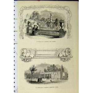: Zoological Gardens Bridge Carnivora Cages Old Print: Home & Kitchen
