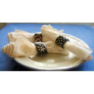 Hand Carved Bone Napkin Ring from Kenya