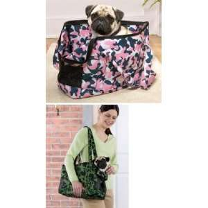 Camouflage Pet Dog Cat Carrier Tote Pink