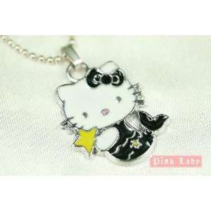 Hello Kitty Black Mermaid Charm Necklace