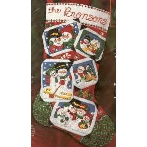 Bucilla Christmas Holiday Stocking Kit   Felts, Sequins, Beads