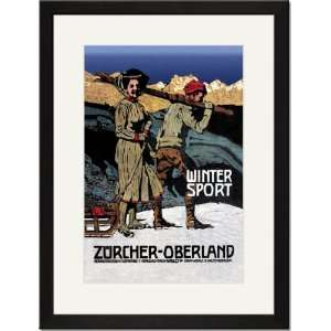 Matted Print 17x23, Winter Sport Cross Country Skiing