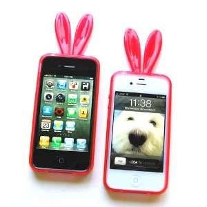 Bunny Crystal Diamond Skin Case for Apple iPhone 4 & 4S