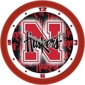 Nebraska Huskers NCAA Dimension Round Wall Clock