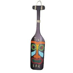 Bar Paddle Painted Wooden Plaque Sign Wall Decor Patio, Lawn & Garden