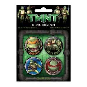 Teenage Mutant Ninja Turtles pack 4 pins Design 2: Toys & Games
