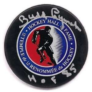 Budd Lynch Signed Detroit Red Wings Hof Puck Coa  Sports