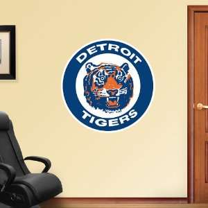 MLB Detroit Tigers Classic Logo Vinyl Wall Graphic Decal