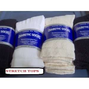Diabetic Socks Women Mixed Colors Black, Beige, White, 1 Dozen Pairs