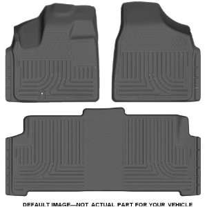 and Second Seat Floor Liner Set for Dodge RAM 1500 (Grey) Automotive