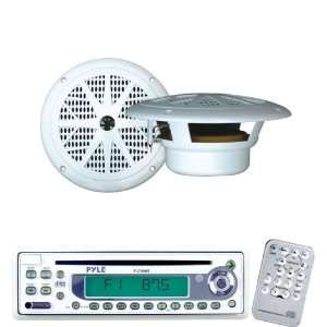 Marine Radio Receiver and Speaker Package   PLCD9MR AM/FM MPX In Dash
