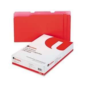 Universal® UNV 10523 COLORED FILE FOLDERS, 1/3 CUT ONE