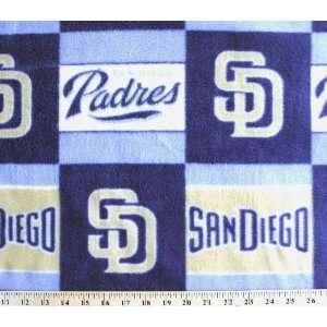 MLB San Diego Padres Baseball Print Fleece Fabric By the Yard