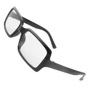 Como Woman Man Plastic Black Full Rim Clear Lens Spectacles Eyewear