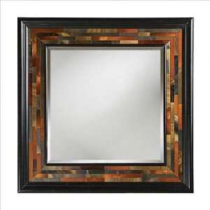 Wall Mirror in Multi Color Reverse Painted Glass 51138