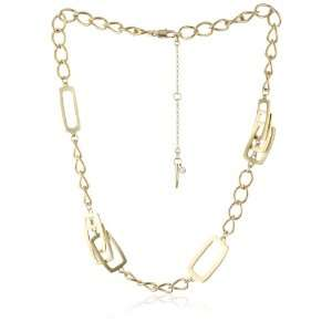 Kenneth Cole New York Urban Shell Gold Tone Chain Necklace Jewelry