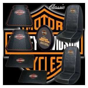 7pc Harley Davidson Classic Car Floor Mat Seat Covers Automotive