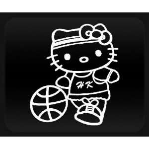 Hello Kitty Basketball White Sticker Decal