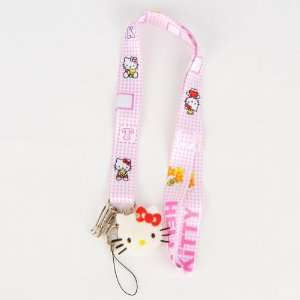 Hello Kitty Keychain Cell Phone Lanyard Strap Electronics