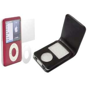 Flip Case + Reusable Screen Protector for Apple iPod Nano 3g (3rd