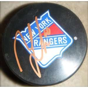 New York Rangers Autographed Signed Hockey Puck
