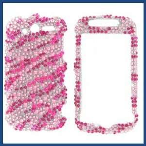 4G 2010 Full Diamond Hot Pink Zebra Protective Case Electronics