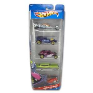 Hot Wheels 5 Car Gift Pack   Custom Car Show Toys & Games