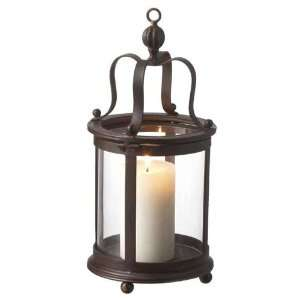 Colonial Style Round Hurricane Candle Lamp by Casa