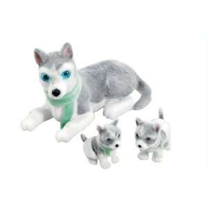 Puppy In My Pocket So Soft Mum and Babies   Husky Family: Toys & Games