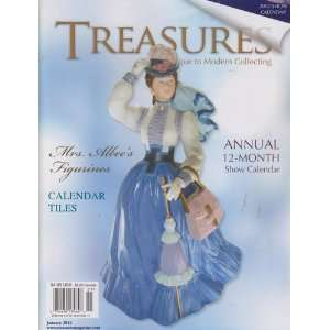 Treasures January 2012 Mrs. Albees Figurine, Calendar