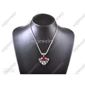 Red Womens Ladies Pretty Necklace Vintage Pendant Jewery