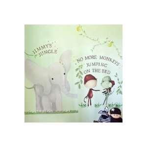 Elephant & Monkey Trio Peel & Place Wall Stickers