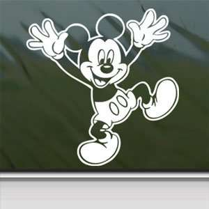 MICKEY MOUSE DISNEY White Sticker Car Vinyl Window Laptop