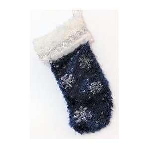 Dollhouse Christmas Snowflake Velvet Stocking