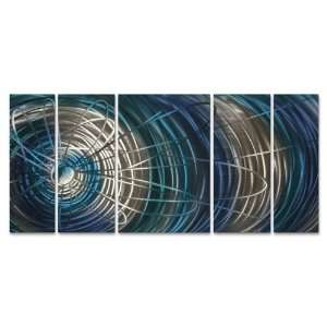 Blue Electric Expansion II Modern Wall Art by Ash Carl