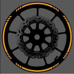 Speed Graduated Wheel Rim Tape Stripe fit Motorcycles, Cars, Trucks