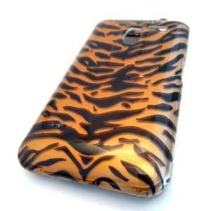 LG MS910 Esteem Gold Zebra Animal Print Gloss Hard Case