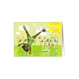Happy birthday card cute little girl Card: Toys & Games