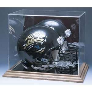 Football Helmet Display Case with Mirrored Back and Engraved NFL Team