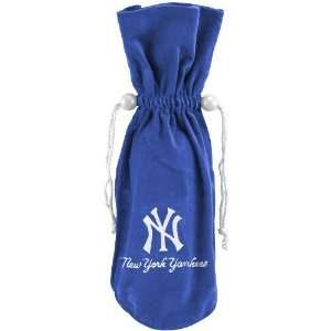 New York Yankees Royal Blue Wine Bottle Bag  Sports