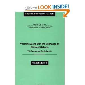 Vitamins A and D in the Exchange of Divalent Cations
