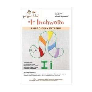 Penguin and Fish Embroidery Patterns Inchworm; 3 Items