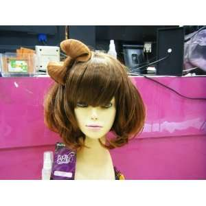 Short High Quality Synthetic Golden Curly Hair Wig Beauty