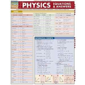 Physics Equations & Answers (Quickstudy: Academic